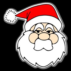 klistermärken med jultomten på