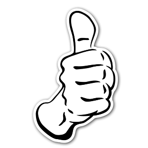 Thumb up sticker