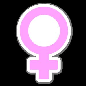 Kvinnlig symbol sticker