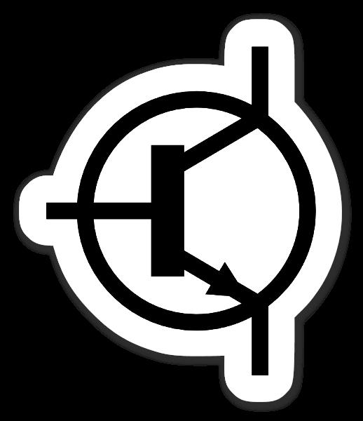 Npn Transistor Symbol Sticker