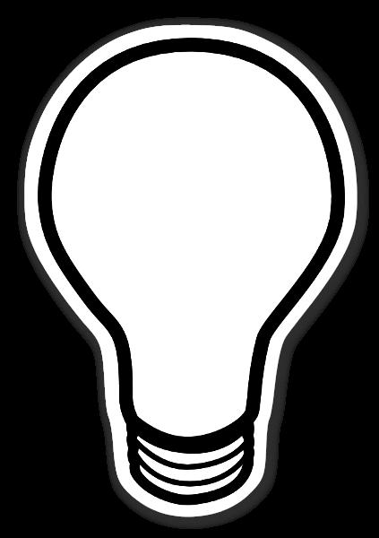 The light bulb sticker