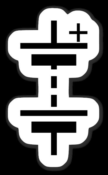 Iec battery symbol sticker