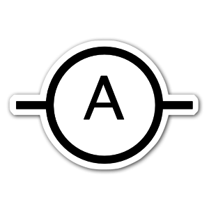 IEC Ampere Symbol sticker