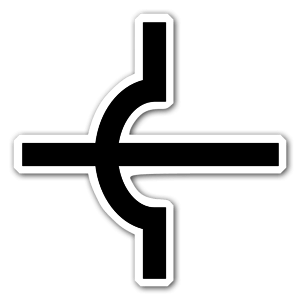 Crossing circuit symbol sticker
