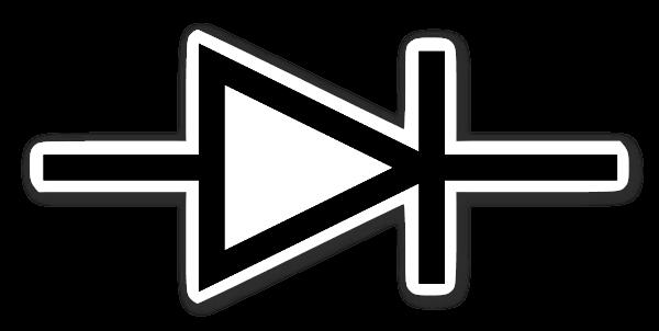 IEC Diod Symbol sticker