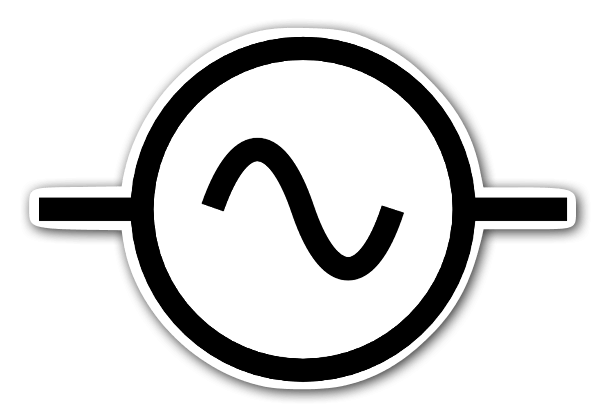 AC alternating current symbol - StickerApp