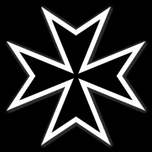 maltesiskt kors sticker