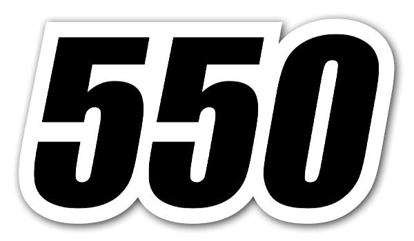 550 racing sticker