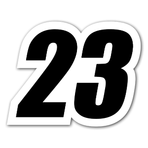 23 race sticker