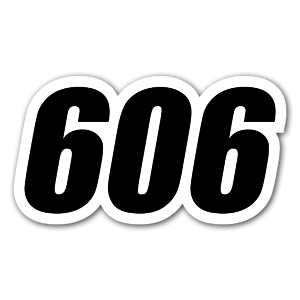 Race 606 sticker
