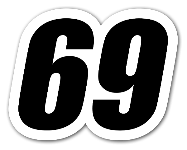 69 Racing Nummer sticker