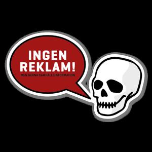 Ingen reklam Klistermärke Dödskalle sticker