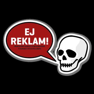 Ej Reklam Klistermärke Dödskalle sticker