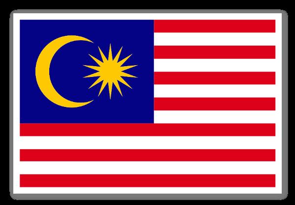 Malaysias flag sticker