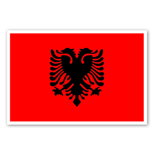 Flag of Albania sticker