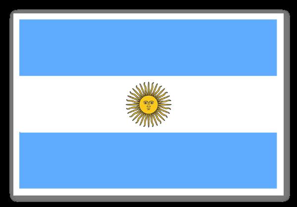 Argentinas flag sticker