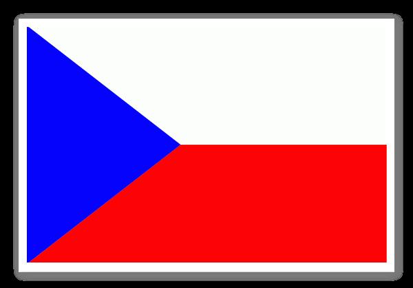 Tjeckiens flagga sticker