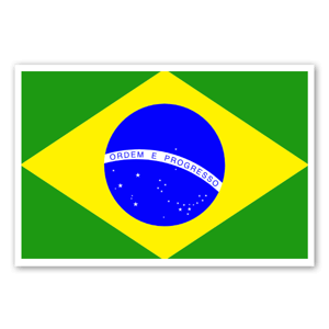 Brazil's flag  sticker