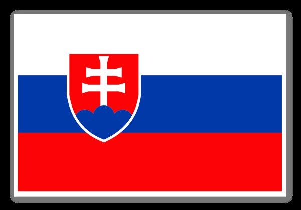 Slovakiets flag sticker
