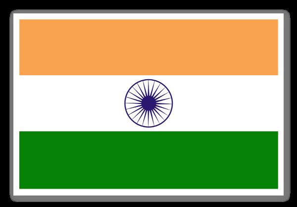 Indiens flag sticker