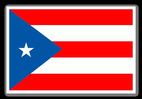 Puerto Ricos flag sticker