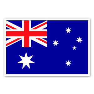 Australiens flagga sticker