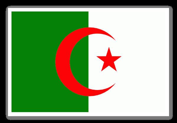 Flag of algeria sticker