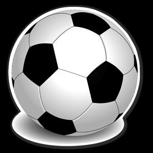 Realistisk fotboll sticker
