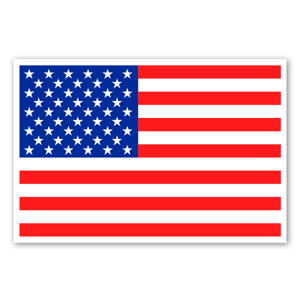 USA flagga sticker