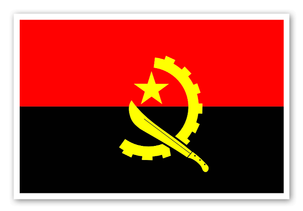 Flag of angola sticker