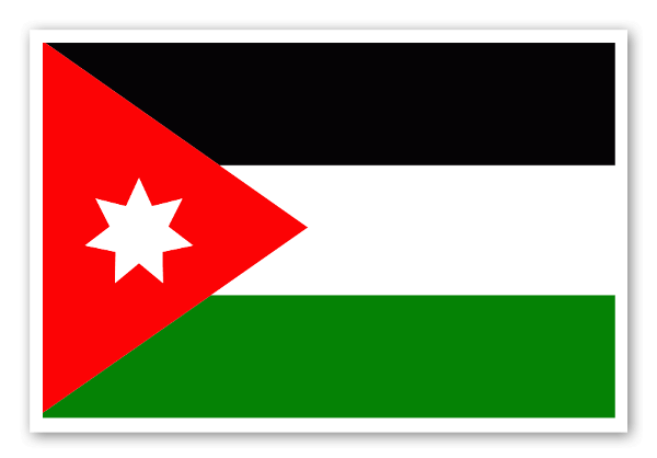 Flag of jordan sticker