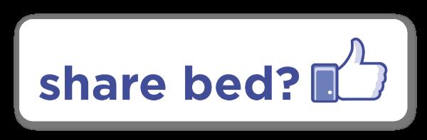 Share bed? sticker