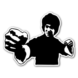 bruce lee sticker