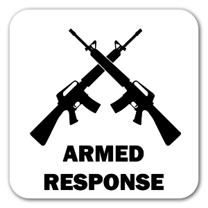 Armed Response sticker
