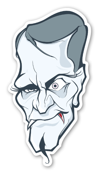 Dracula stickers