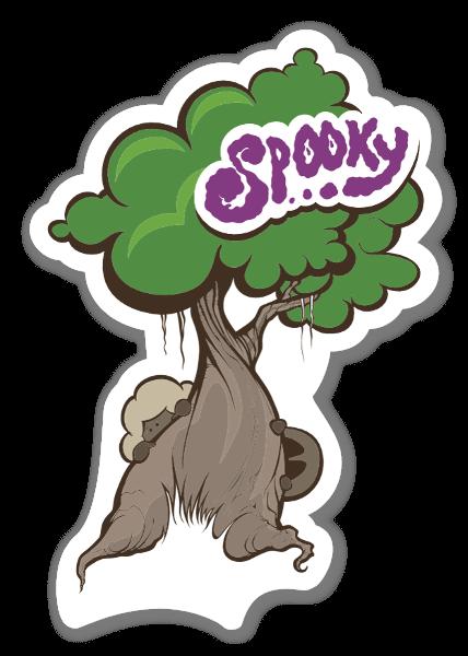 Spooky tree stickers