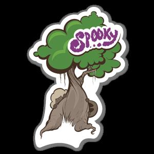 Spooky Tree Aufkleber