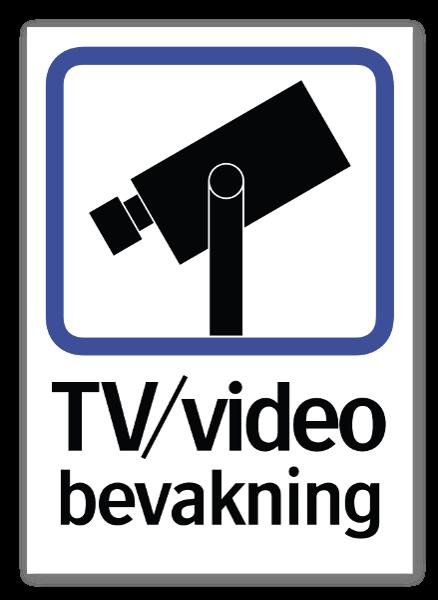 TV Video bevakning dekal sticker
