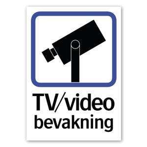 TV Video bevakning dekal sticker