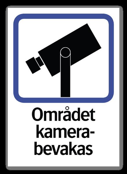 Området kameraövervakas dekaler sticker