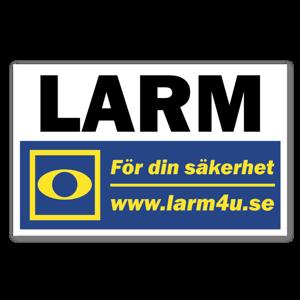LARM för din säkerhet larmdekal sticker