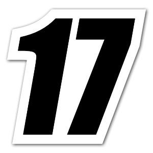 Black number 17  sticker