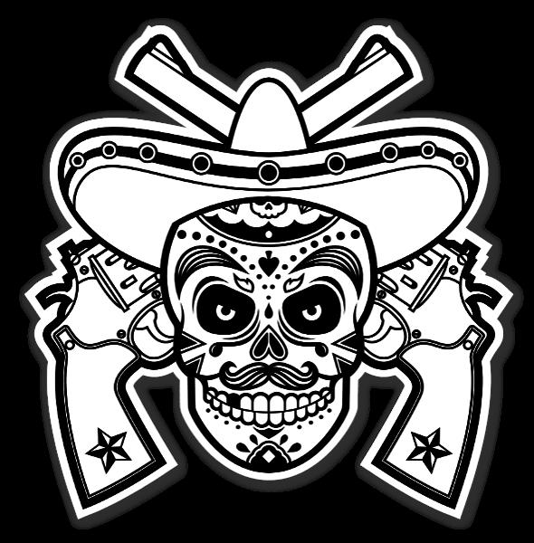 Mexican Pistelero sticker