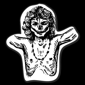 Jim Morrison Crânes sticker