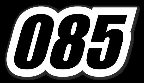 ナンバー085 ステッカー
