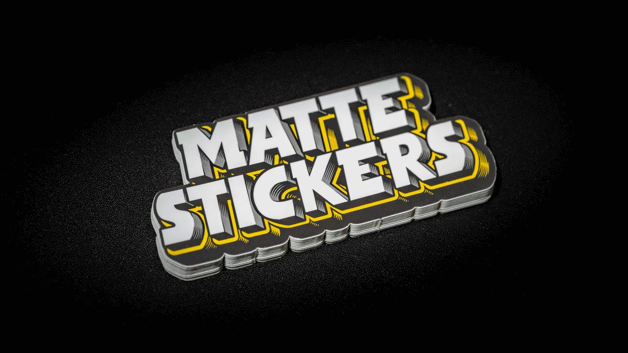 Matte Aufkleber Stickerapp